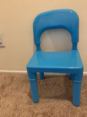 Blue plastic chair for kids for Sale in Hesperia, CA