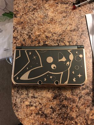 $120 obo Nintendo New 3DS Black with Pikachu hard shell case and Pokémon carry case for Sale in Santa Ana, CA