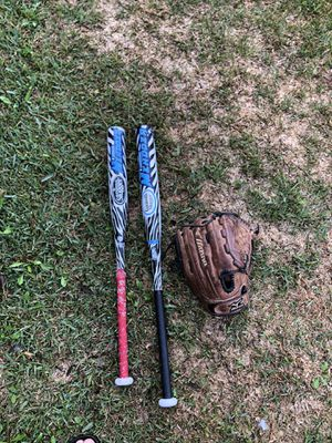 Fastpitch bats and glove for Sale in Industry, CA