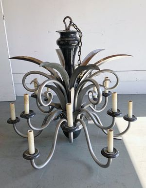 Grand Entry Designers Wrought Iron Chandelier Lighting Fixtures for Sale in La Habra Heights, CA