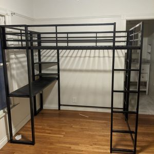 Bunk Bed For Full Size Mattress With Desk And Shelving for Sale in San Diego, CA
