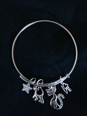 Cat lovers charm bracelet for Sale in Nashville, TN
