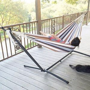 Brand new in box Portable Hammock + Base Stand + Carrying Bag Outdoor Camping 450lbs Capacity Easy Assembly for Sale in Whittier, CA