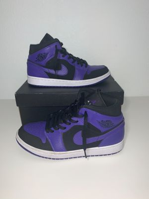 Jordan 1 Mid Black Dark Concord for Sale in North Las Vegas, NV