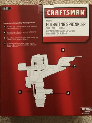 Craftsman Metal Pulsating Sprinkler for Sale in Chesterfield, MO