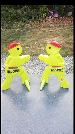 2 kids slow signs $15 each or $25 for both firm for Sale in Renton, WA