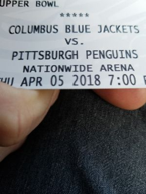 Blue Jacket Tickets vs Penguins 4/5 Thursday for Sale in Columbus, OH