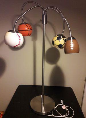 Sports Vintage Floor Lamp baseball football basketball soccer light for Sale in Marietta, GA