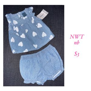 Carters baby girl heart outfit for Sale in Wilsonville, OR