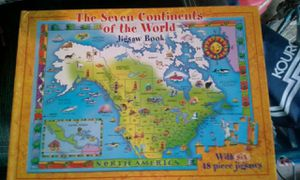 Puzzle book of the 7 continents for Sale in Winchester, VA