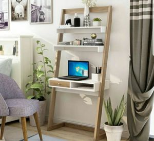 Ladder Writing Desk in White and Weath Finish for Sale in Ontario, CA