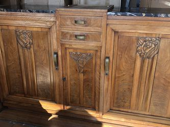 Antique Wood And Marble Top Buffet for Sale in Buena Park,  CA