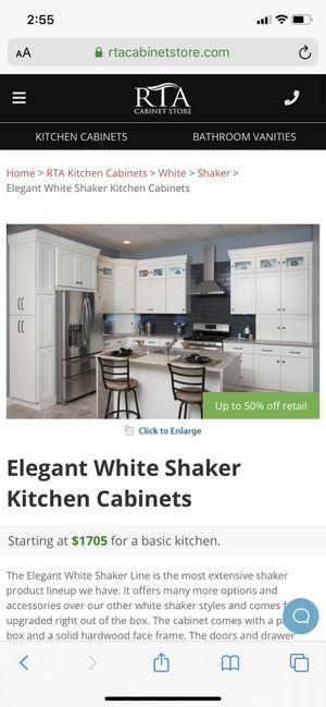 WHITE KITCHEN CABINETS for Sale in Spanaway, WA