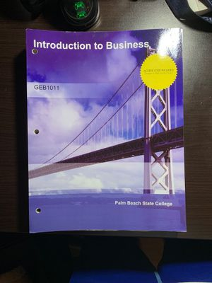 Introduction To Business Mcgraw Palm Beach State College GEB 1011 for Sale in Port St. Lucie, FL