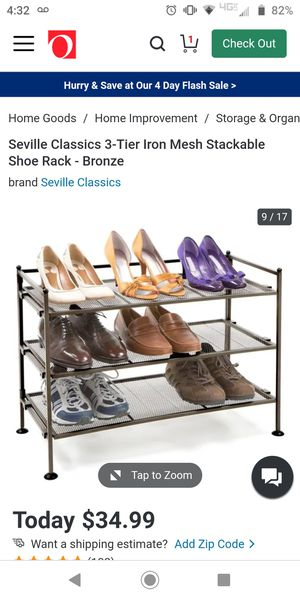 Metal bronze shoe rack for Sale in Federal Way, WA