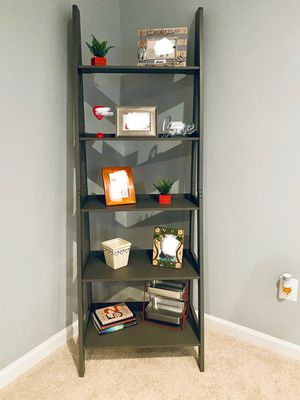 Brand New Grey Wood Ladder Shelf (New in Box) for Sale in Wheaton-Glenmont, MD