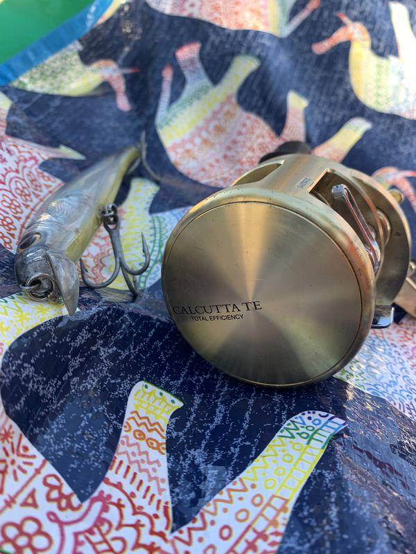 Gold Shimano Calcutta TE 201 Baitcasting Reel