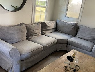 Pottery Barn PB Comfort Roll Arm Slipcovered 3-Piece Sectional for Sale in Coronado,  CA
