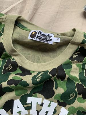 Bape Camo College Tee for Sale in Imperial Beach, CA