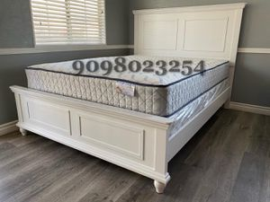 Queen withe wooden bed w. Orthopedic mattress included for Sale in Montclair, CA