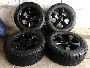 "20"" Chevy Tahoe Suburban Silverado FACTORY BLACK Wheels Rims Falken Tires LT305/55/20 NEW for Sale in Santa Ana, CA"