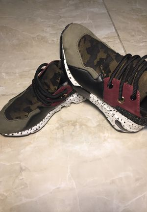 steve madden CLIFF ladies modern cosy leather/ pony hair fashion trainers olive for Sale in Miami, FL