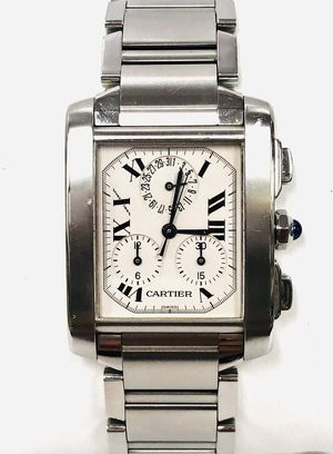 Authentic Cartier Tank Française 2303 SS Chronograph for Sale in Miami, FL