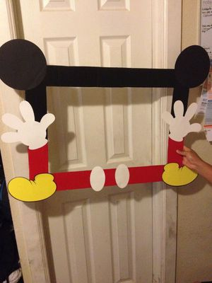 Mickey Mouse party photo frame... photo booth prop for Sale in Walnut, CA