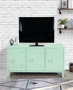 💚Matapouri 3-Doors Green Metal Accent Cabinet TV Stand With Storage💚 for Sale in Houston, TX