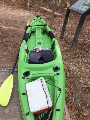 Sun dolphin comes with 2 pole holders n paddle for Sale in Galt, CA