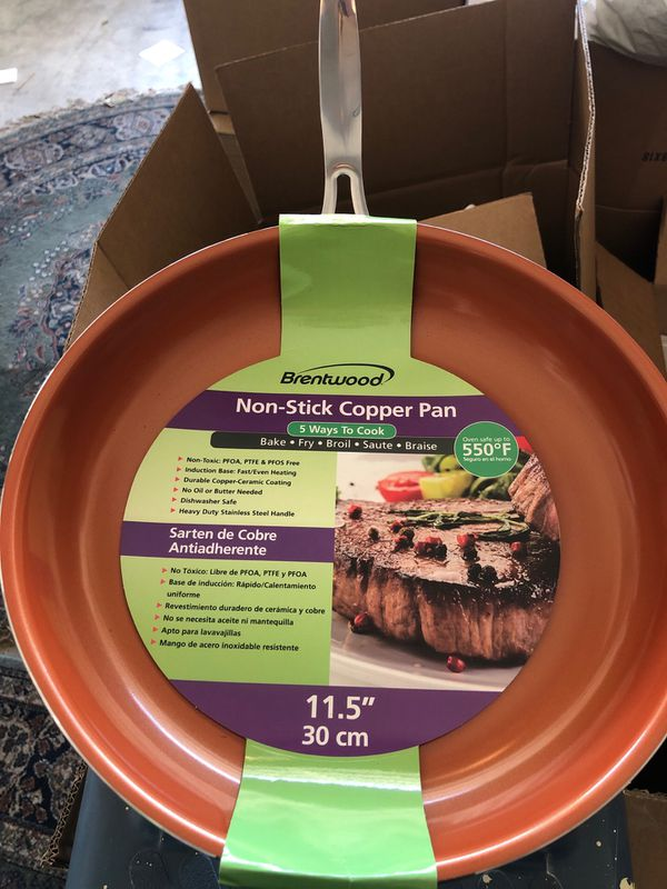 """Brentwood 11.5"""" non stick copper pan"""