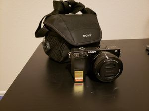 Sony a6000 camera for Sale in Waxahachie, TX