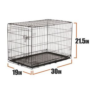 """Vibrant Life Single-Door Folding Dog Crate with Divider, Small, 30""""L for Sale in Stafford, TX"""