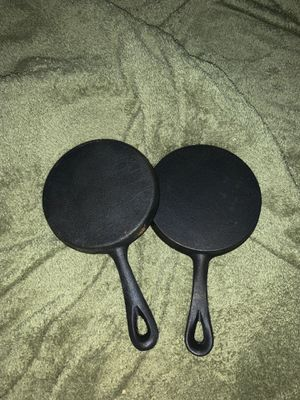5 inch cast iron cooking pans frying camping new for Sale in Duvall, WA