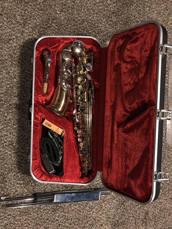 Armstrong Alto Saxophone with kit, case, and stand