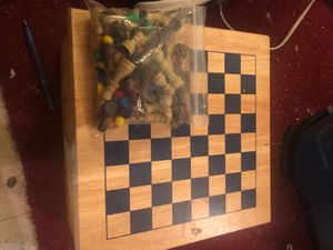 Wooden board games 6 games in total for Sale in Brooklyn Park, MN