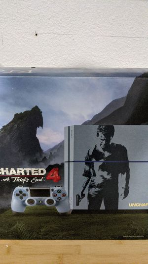 Limited edition uncharted PS4 w/ controller for Sale in Moreno Valley, CA