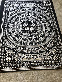 Large Black & White Elephant Tapestry for Sale in Alpharetta,  GA