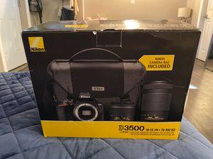 Nikon D3500 18-55 VR + 70-300 ED kit LENS CAMERA COMBO WITH BAG for Sale in Santa Fe Springs, CA