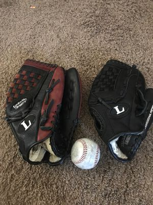 2 Louisville slugger baseball gloves and ball both never used for Sale in Puyallup, WA