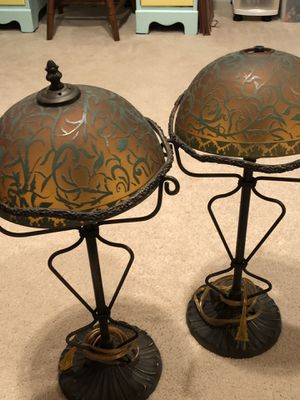 Solid Rod Iron Lamps, Great Condition, 1 missing top screw (as seen in picture) for Sale in Columbia, SC