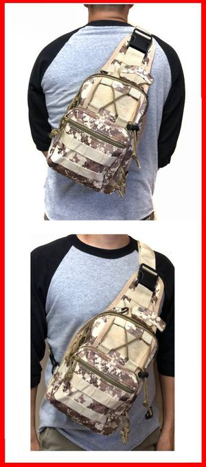 NEW! Tan Digital Tactical Molle Handy Crossbody/Shoulder/Side Bag/Sling For Everyday Use/Traveling/Sports/Gym/Hiking/Biking/Hunting/Fishing/Camping for Sale in Carson, CA