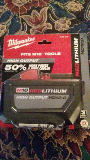 Milwaukee 12ah battery for Sale in Wheat Ridge, CO