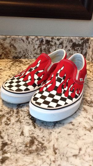Red Flaming Vans Mens 10 for Sale in St. Petersburg, FL