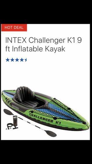 INTEX Challenger K1 (9 foot Kayak). for Sale in Staten Island, NY