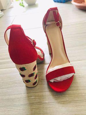 Red block heel sandals for Sale in Fairfax, VA