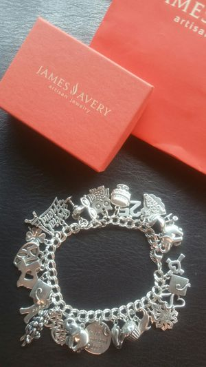 James Avery heavy double curb bracelet with 26 charms, most retired for Sale in Houston, TX