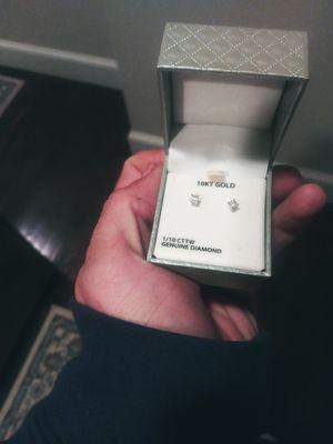 1/10 10k Diamond Stud Earrings for Sale in Boston, MA