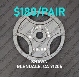 OLYMPIC WEIGHTS - 45LBS PLATES for Sale in Glendale,  CA