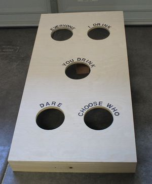 Drinking game cornhole board for Sale in Alexandria, VA